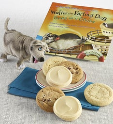 Walter the Farting Dog Goes on a Cruise Book and Plush Cookie Gift