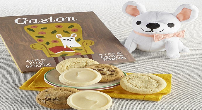 Gaston Book and Plush Cookie Gift