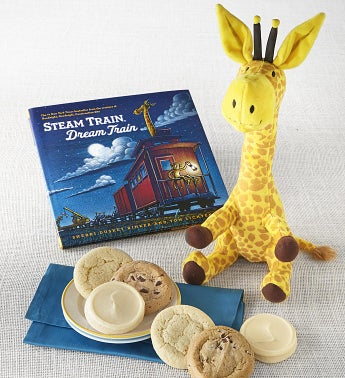 Steam Train Dream Train Book and Plush Cookie Gift
