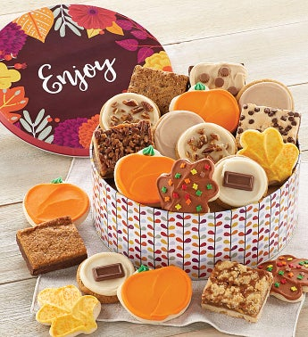 Fall Gift Tin – Cookies and Brownies