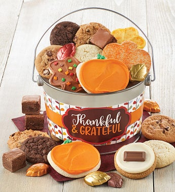 Fall Treats Pail Thankful and Grateful