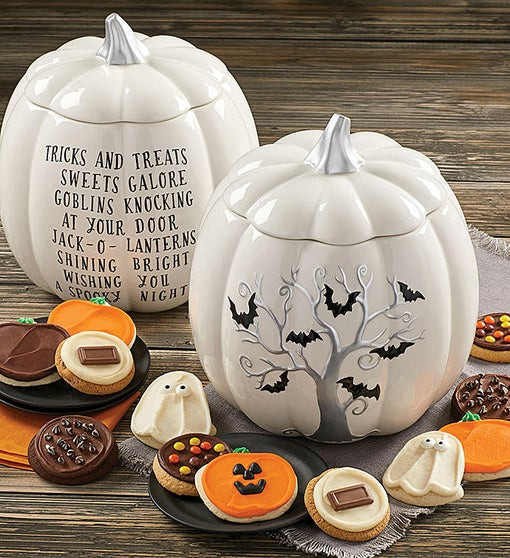 Collector's Edition Halloween Bats Pumpkin Jar