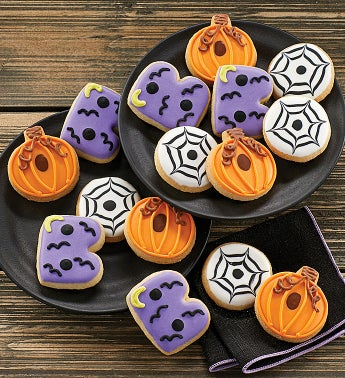 Mini Halloween Crunchy Sugar Cookies