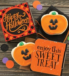 Happy Halloween Jack O' Lantern Cookie Card