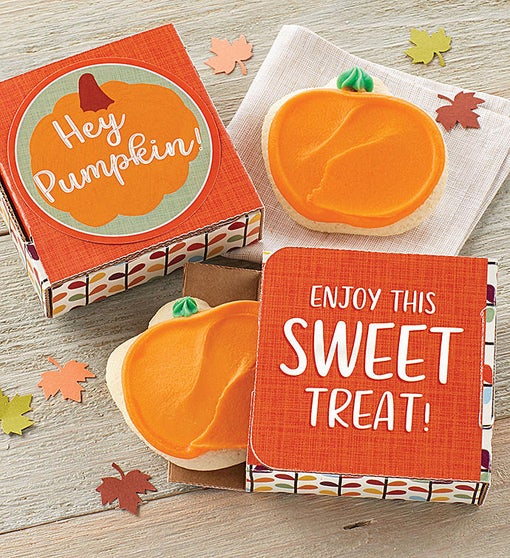 Hey Pumpkin Cookie Card