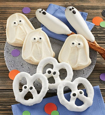 Ghost Pretzel and Cookies Gift