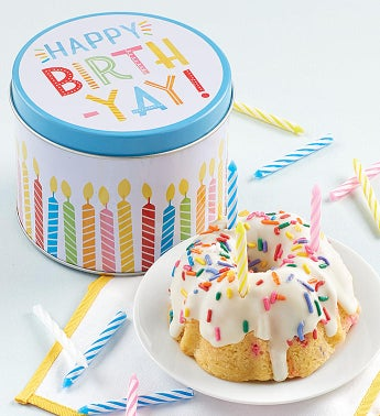 Birthday Mini Confetti Cake and Gift Tin