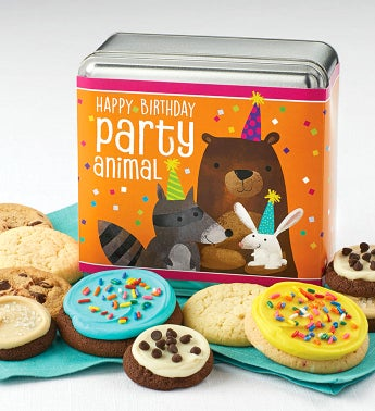 Happy Birthday Party Animal Gift Tin