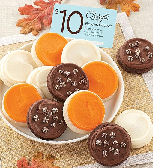 12-Count Snack Size Fall Cookie Sampler + $10 Gift Card