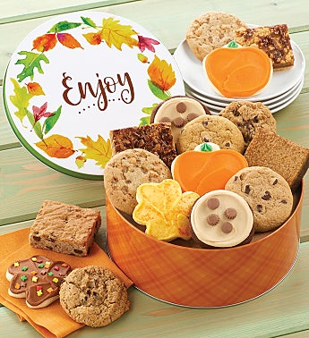 Enjoy Fall Cookie and Brownie Gift Tin