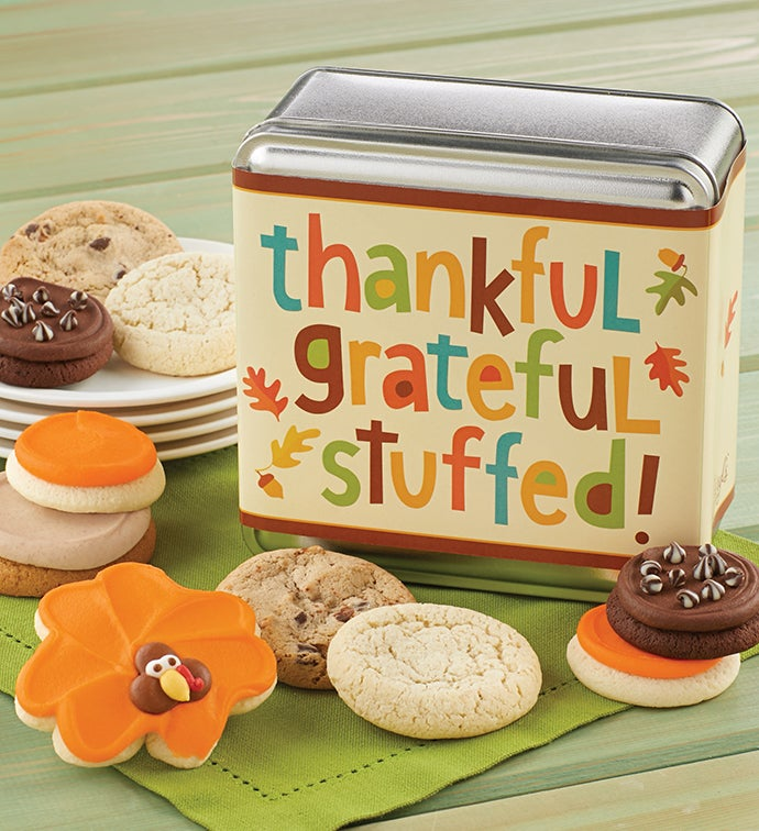 Thankful, Grateful, and Stuffed Gift Tin