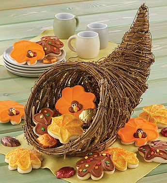 Thanksgiving Cornucopia Bakery Basket