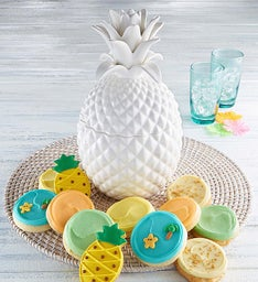 Collector's Edition White Pineapple Cookie Jar