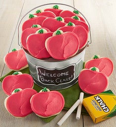 Back to School Apple Cut-out Cookie Pail