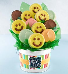 Happy Day Cookie Flower Pot