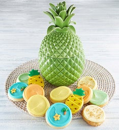 Collector's Edition Green Pineapple Cookie Jar