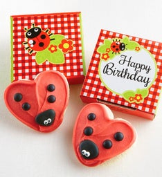 Happy Birthday Ladybug Cookie Card