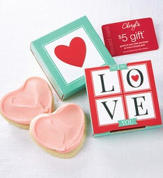 I Love You Cookie Card