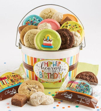 Hip Hip Hooray Birthday Treats Pail