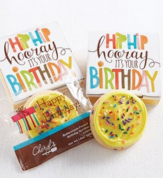 Hip Hip Hooray Birthday Cookie Card
