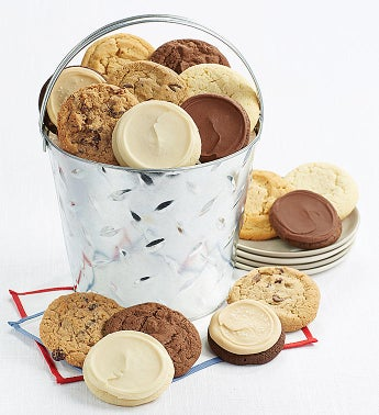 Shiny Silver Cookie Pail