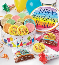 Musical Birthday Gift Tin  Frosted Assortment