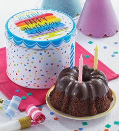 Birthday Mini Tin And Chocolate Cake