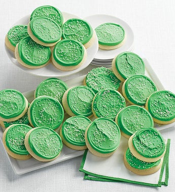 Buttercream Frosted St Patrick39s Day Party Cookies