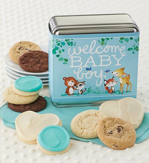 Welcome Baby Boy Gift Tin