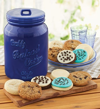 Collectors Edition Fathers Day Cookie Jar and 2 Month Refill