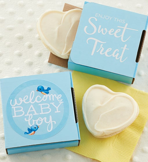 Welcome Baby Boy Cookie Card