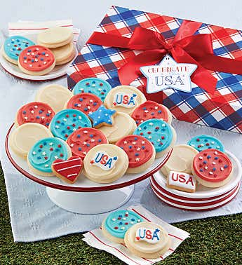 Patriotic Cookie Gift Box - Large