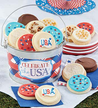 Celebrate the USA Cookie Pail