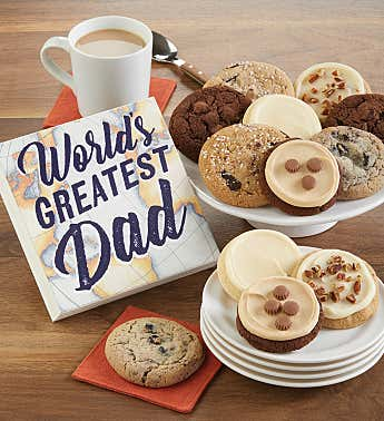 Father's Sign and Cookies