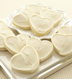 Buttercream Frosted White Heart Cut-out
