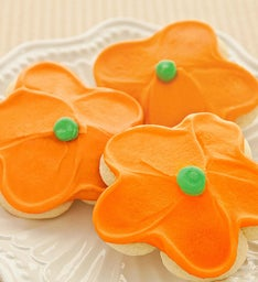Buttercream Frosted Orange Flower Cut-out