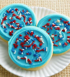 BLUE FROSTED PATRITOTIC COOKIE