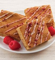 RASPBERRY CHAMPAGNE BLONDIE