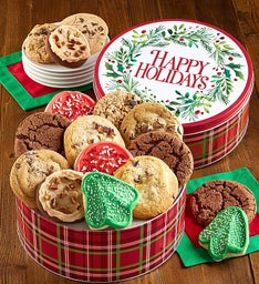 Happy Holiday Gift Tin Holiday Cookie Assortment