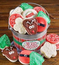 Merry Christmas Cookie Pail