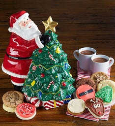 Collector's Edition Tree & Santa Cookie Jar