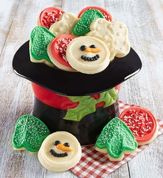 Collector's Edition Snowman Hat Cookie Bowl