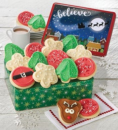 Believe Gift Tin - Holiday Frosted Assortment