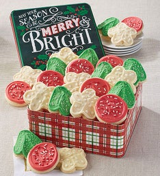 Merry and Bright Buttercream Frosted Gift Tin