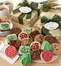 Happy Holidays Sparkling Cookie and Brownie Gift Box