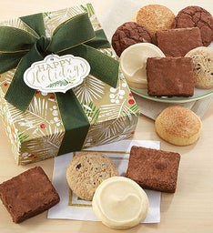 Gluten free cookies and brownies cheryls gluten free happy holidays sparkling cookie and brownie gift box negle Choice Image