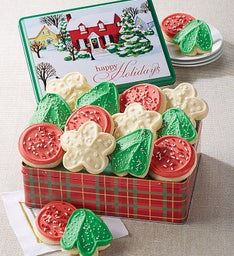 Holiday Village Gift Tin
