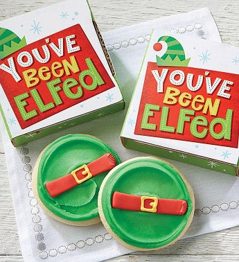 You've Been Elfed Cookie Card