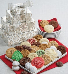 Sparkling Holiday Gift Tower of Treats