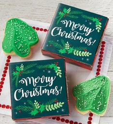 Merry Christmas Cookie Card Case